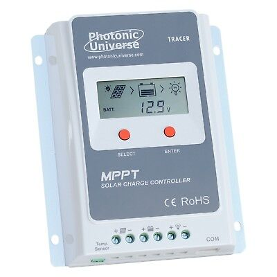 10A MPPT Solar Charge Controller With LCD Screen For 12V/ 24V Systems Up To 100V • 59.99£