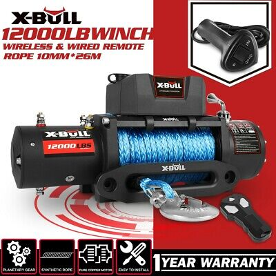 AU382.99 • Buy X-BULL Electric Winch 12V 12000LBS Synthetic Rope 26M Wireless Remote 4WD 4x4