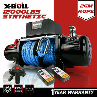 AU459 • Buy X-BULL Electric Winch 12000LBS 12V Synthetic Rope 26m Wireless Remote 4WD 4x4