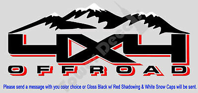 $37.39 • Buy 4x4 Snow Capped Mountains Truck Bed Side Decal Fits: Dodge Ram 1500 2500 3500