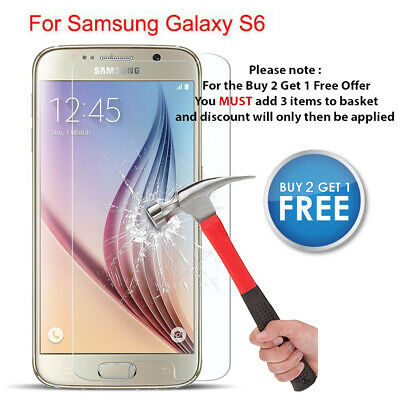 $ CDN3.51 • Buy For Samsung Galaxy S6 Screen Protector 100% Genuine Tempered Glass Guard Cover