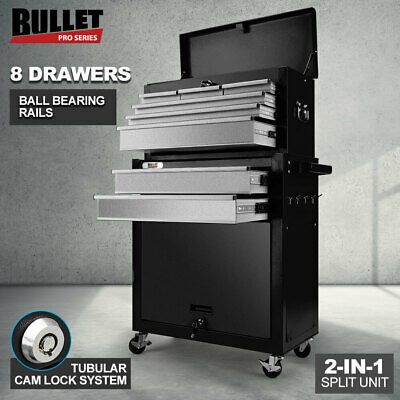 AU209 • Buy 【EXTRA15%OFF】BULLET 8 Drawer Tool Box Cabinet Chest Storage Toolbox Garage