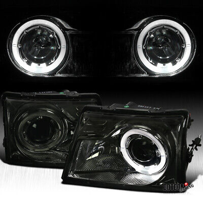$97.99 • Buy For Ford 1998-2000 Ranger Assembly Halo Smoke Lens Projector Headlights