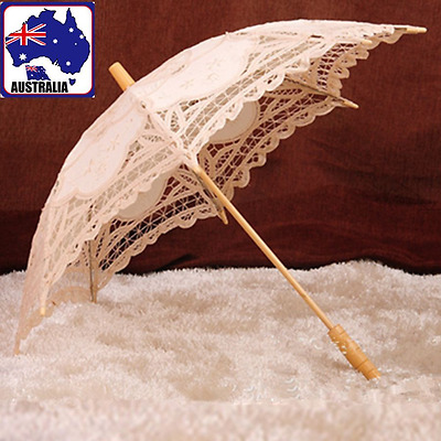 AU16.70 • Buy Handmade Umbrella Cotton Lace Beige Wedding Decor Photography Props HUMB03200