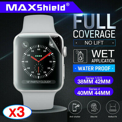 AU9.95 • Buy MaxShield Screen Protector Fr Apple Watch Series 3/4/5/6 SE 38/42 40/44mm IWatch
