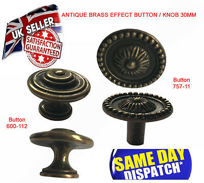 Solid Brass Knobs Furniture Old Effect Knob For Cupboard Door Drawers Wardrobe • 2.95£