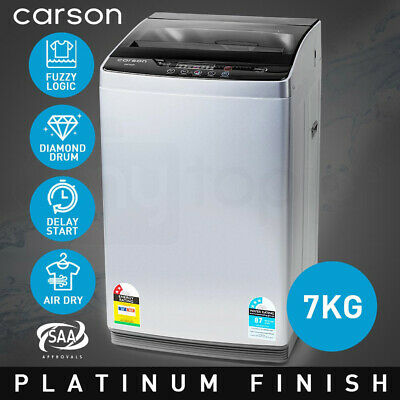 AU499 • Buy CARSON Washing Machine 7kg Platinum Automatic Top Load Home Dry Wash