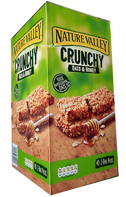 £13.49 • Buy Nature Valley Crunchy Oats & Honey Cereal Bars 40 2-Bar Packs New Stock