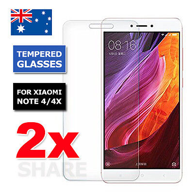 AU4.95 • Buy 2X Tempered Glass LCD Screen Protector Film Guard For XIAOMI REDMI NOTE 4 4X