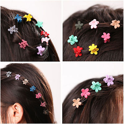 $1.51 • Buy 30 PCS Kids Baby Girls Candy Colour Hairpins Mini Claw Hair Clips Clamp Flower