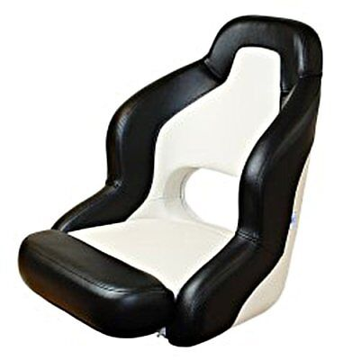 Sport Fixed Boat Helm Seat Black / White • 253.20£