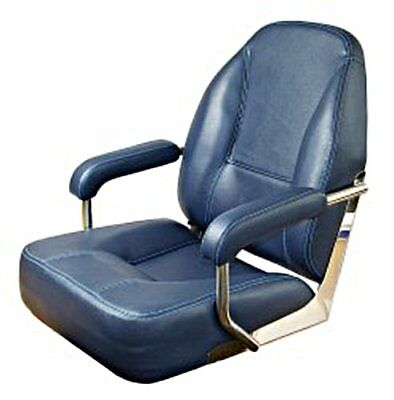 Boat Helm Seat Blue With Padded Armrests • 482.54£