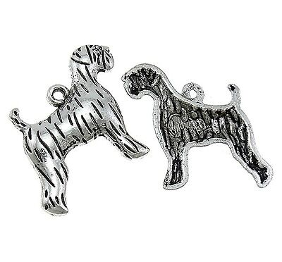 ❤ 10 X Antique Silver TIGER Charm 21mm Jewellery Making UK ❤ • 0.99£