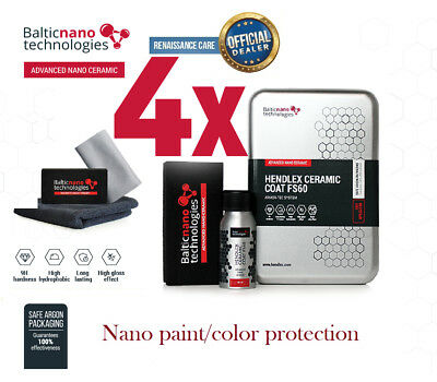 $201.50 • Buy 4x Hendlex CERAMIC COAT FS60 Nano 9H For Car Body Paint/color Protection
