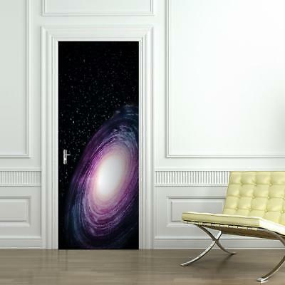 £22.59 • Buy Space Galaxy DOOR WRAP Removable Decal Wall Sticker Mural Stars Nebula D170