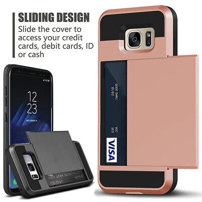 $ CDN5.23 • Buy Samsung Galaxy S20 Ultra Note 10 9 S10 S9 S8 Plus Card Pocket Wallet Case Cover