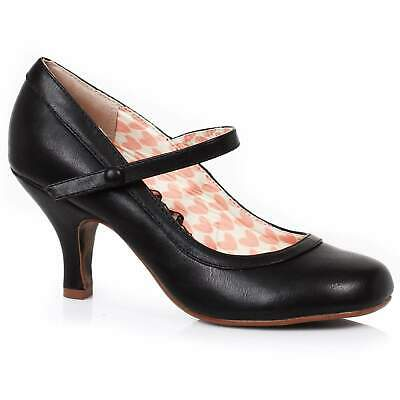 AU115 • Buy Bettie Page Bettie Mary Jane Shoes - Black - Vintage Retro Rockabilly 50s 5-11