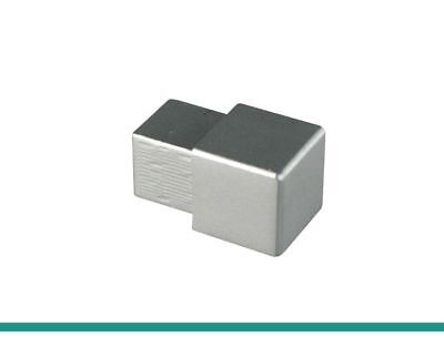 1 X FUCHS Corner For 10 Mm Tile Trim Square Edging – Aluminium Silver Matt • 4.69£