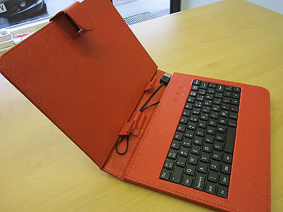 Red USB Keyboard Folder Case For Sumvision Cyclone Voyager 8 Inch Android Tablet • 12.99£