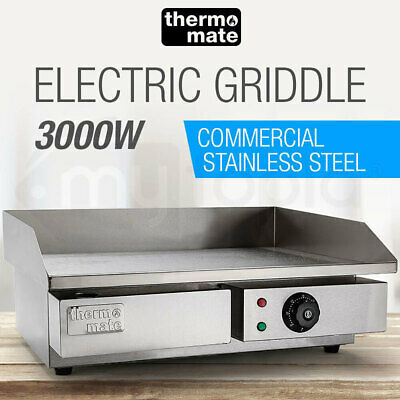 AU289 • Buy Thermomate Electric Griddle Grill BBQ Hot Plate Commercial Stainless Steel