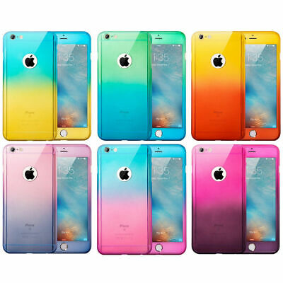AU7.75 • Buy 360° Full Hybrid Tough Case Cover + Tempered Glass For Apple IPhone 6 6s 7 Plus