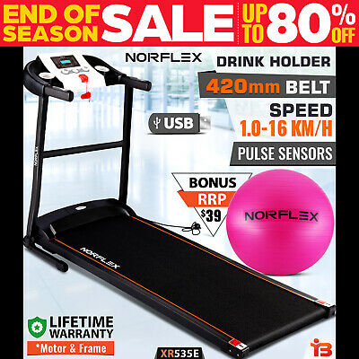 AU349 • Buy NEW NORFLEX Electric Treadmill Home Gym Ball Exercise Machine Fitness Equipment