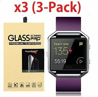 AU4.83 • Buy 3-Pack Premium Real Tempered Glass Screen Protector For Fitbit Blaze Smart Watch