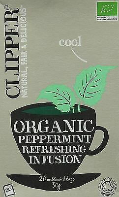 £7.15 • Buy Clipper Tea Bags Organic Peppermint Infusion 20 Bags