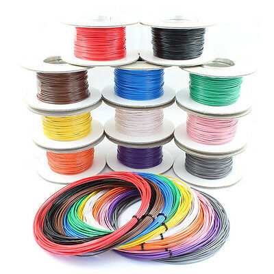 £7.50 • Buy Single Core Stranded Cable 12v 24v Thin Wall Wire All AMP Ratings & 11 Colours