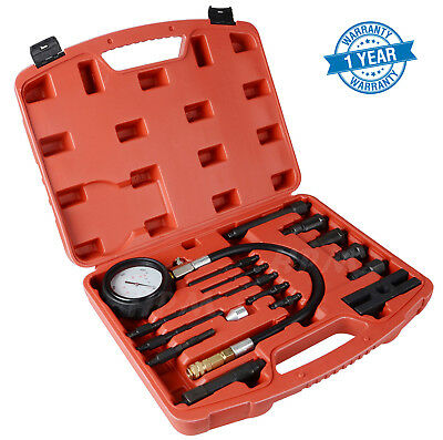 AU47.95 • Buy New 17 Pc Diesel Engine Compression Tester Kit Tool Set Automotive Compressor