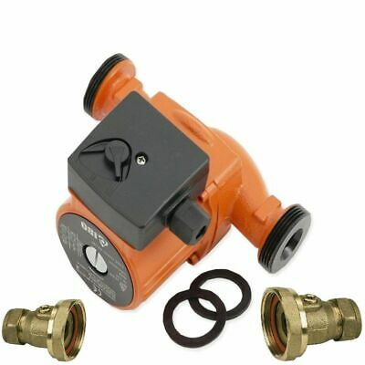 Central Heating Circulator Pump 60-130 For Hot Water Heating System +valves • 37£