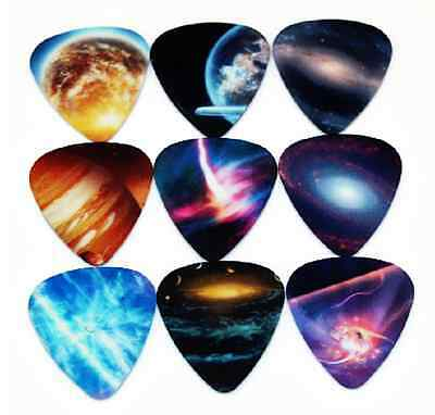 $ CDN9.06 • Buy Assorted Galaxy Space Universe Guitar Picks Lot Of 10 .71 Mm Free Tracking New