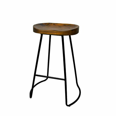 AU184.90 • Buy 2x Vintage Tractor Bar Stool Retro Barstool Industrial Dining Chairs 65cm Wood