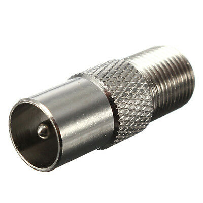 AU2.25 • Buy F-Type Female Plug To PAL Male Socket Coaxial TV Antenna Cable Connector Adapter