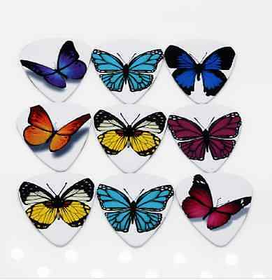 $ CDN9.06 • Buy Assorted Butterfly Guitar Picks Lot Of 10 1.0 Mm Electric Free Tracking New