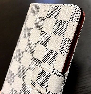 $ CDN11.93 • Buy Samsung Galaxy Note 8 - Card Wallet Diary Pouch Case Cover White Checker Plaid