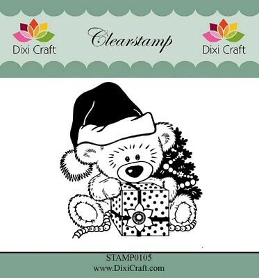 Dixi Craft Clear Stamp - Christmas Teddy Bear - STAMP0105 • 5.30£