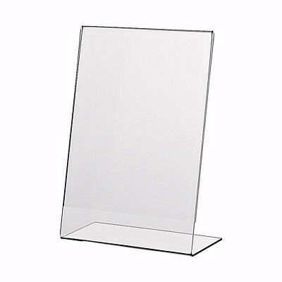 A4 Poster Holder Acrylic Sign Perspex Portrait Menu Display Stand Pack Of 5  • 21.50£