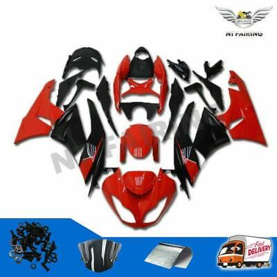 $469.99 • Buy NT Red Black Injection Mold Fairing Fit For Kawasaki 2009-2012 ZX6R 636 ABS S05