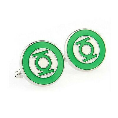 Stylish Men's Women's Green Lantern Superhero Cufflinks For Wedding, Party • 4.99£