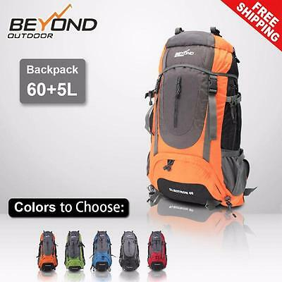 AU41.50 • Buy 60L + 5L Outdoor Backpack Rucksack Bag Hiking Camping Travel Camp Equipment Gear