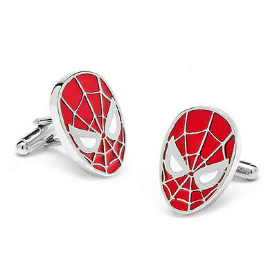 Stylish Men's Women's Red Spiderman Cufflinks For Wedding Party • 4.99£