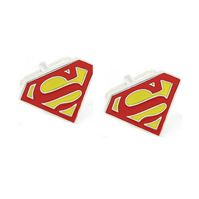 Stylish Men's Women's Red Superman Cufflinks For Wedding Party • 4.99£