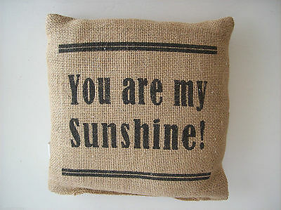 You Are My Sunshine!  Small Burlap Pillow - 8  X 8  • 7.40£