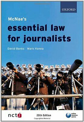 £2.59 • Buy McNae's Essential Law For Journalists By Mark Hanna Paperback Book The Cheap