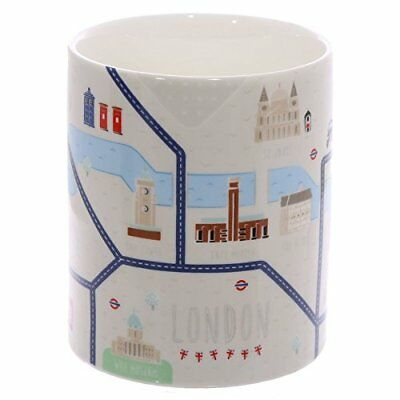 World Famous London Map Design New Bone China Mug - Box Packed - MUG198 • 7.99£