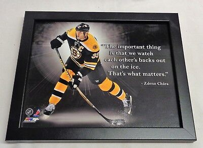 NHL TD Garden Boston Bruins Zdeno Chara ProQuotes Framed Picture 8x10 FREESHIP • 28.88$