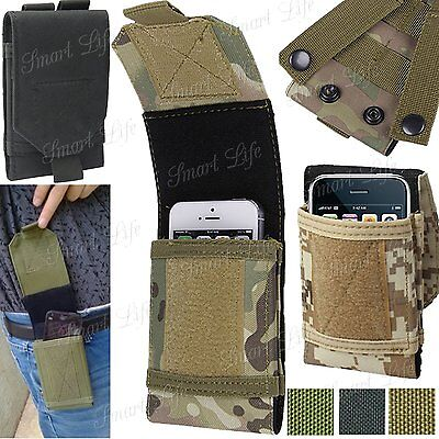 AU16.33 • Buy Universal Army Camo Bag For Mobile Phone Belt Loop Hook Case Cover Pouch Holster