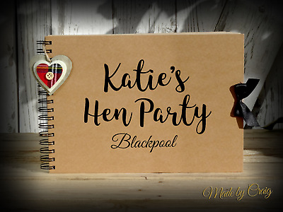 A4 A5 Scrapbook Hen Do/Hen Party, Photo Album, Memory Book, Keepsake, Guestbook • 12.95£