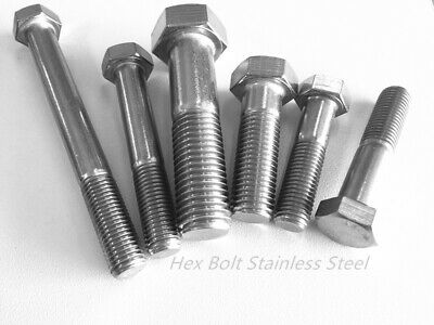 AU4.80 • Buy M8 M10 M12 M16 Hex Bolt Stainless Steel 304 Metric Coarse